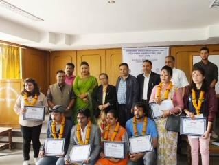 Award Distribution Program to Journalist 2075