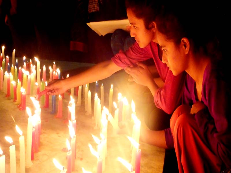 Candle light ceremony in the memory of children1