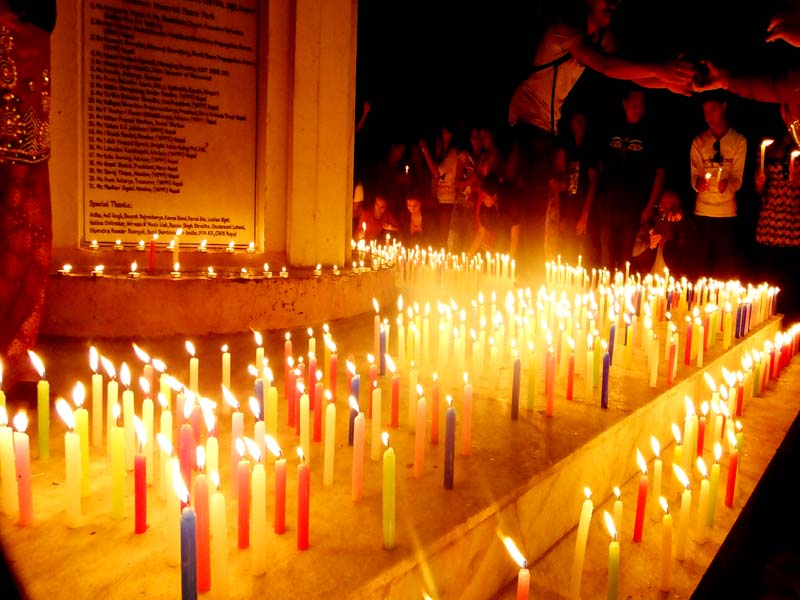 Candle light ceremony in the memory of children